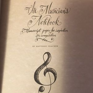 Musicians Notebook: music composition book